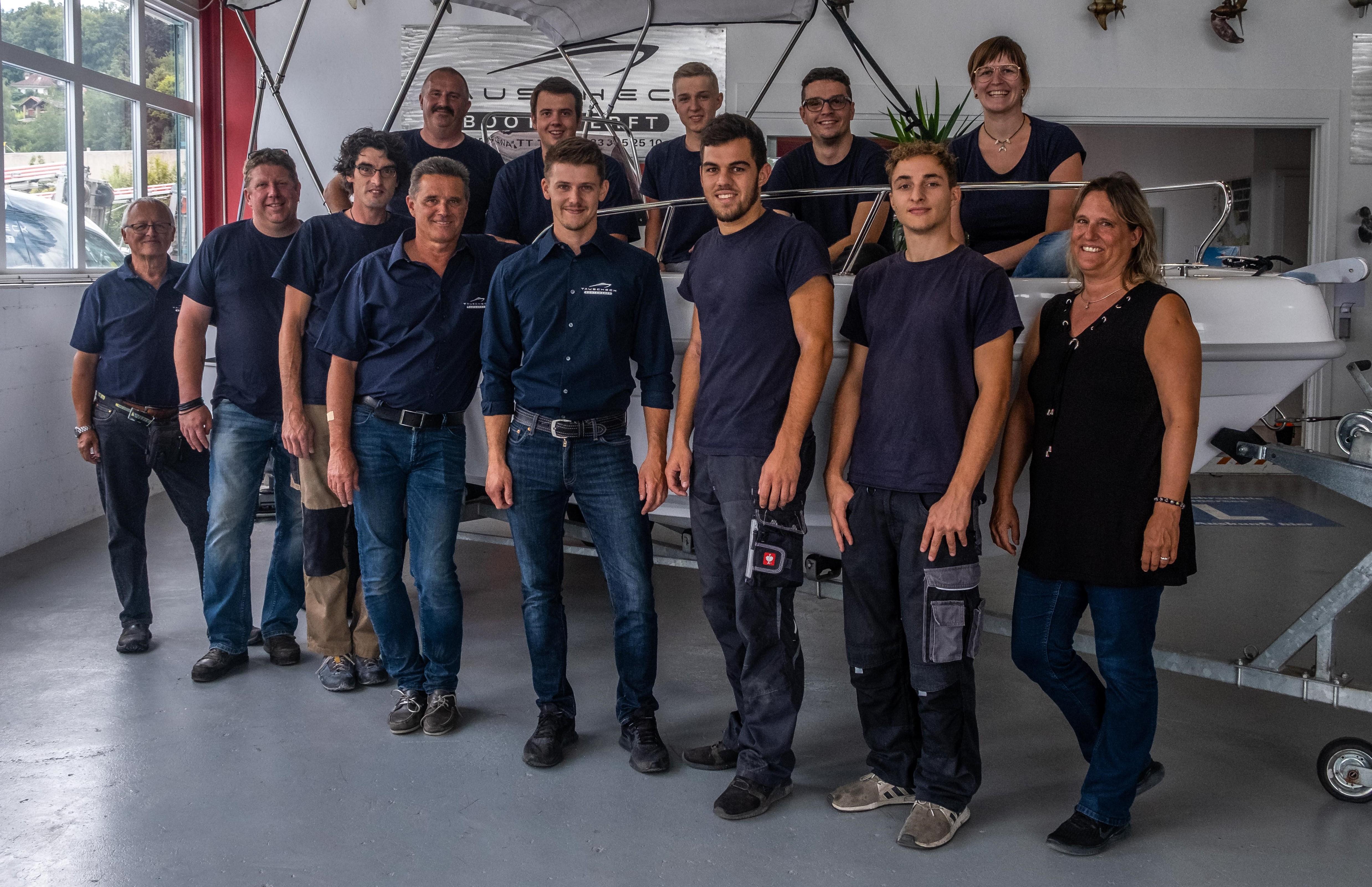 Tauscheck Bootswerft Team sept. 2020
